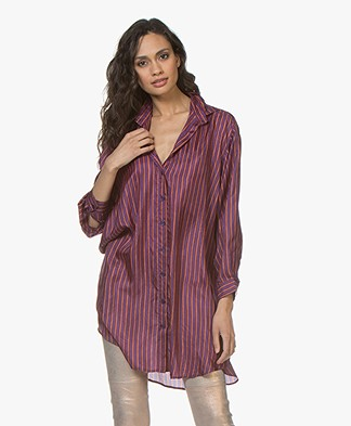 Mes Demoiselles Sox Striped Silk Tunic - Purple