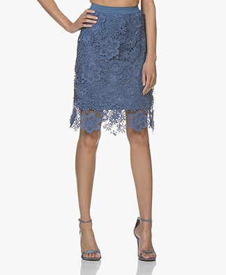 Josephine & Co Chane Lace Skirt - Jeans Blue