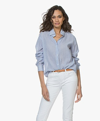 Vanessa Bruno Druyat Striped Blouse - Marine/White