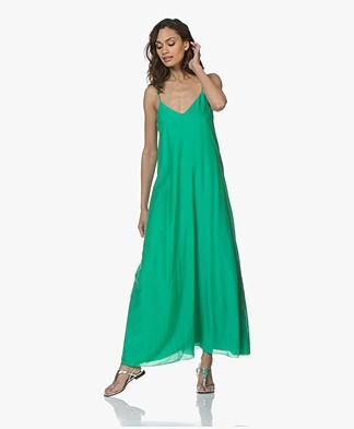 Pomandère Silk Blend Maxi Dress - Fluo Green