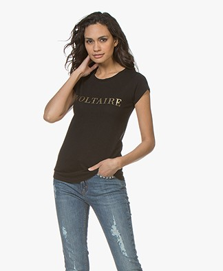 Zadig & Voltaire Skinny Voltaire Print T-shirt - Black