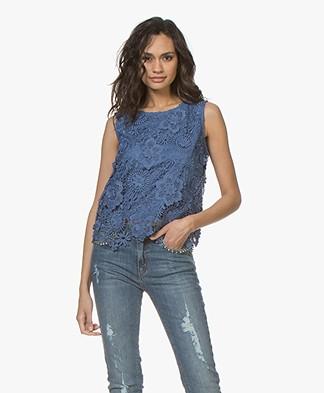 Josephine & Co Celina Lace Top - Jeans Blue