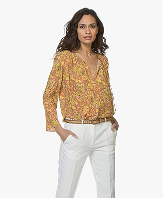 Vanessa Bruno Diaz Printed Viscose Blouse - Noisette