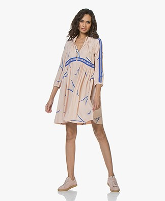 ba&sh Tilda Crepe Dress with Print - Nude