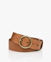 ba&sh Camus Leather Belt - Camel