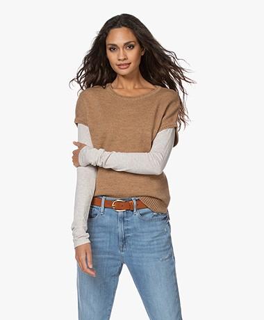 Sibin/Linnebjerg Aspen Merino-Alpaca Short Sleeve Sweater - Caramel