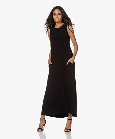 Norma Kamali Swing Sleeveless Maxi Dress - Black