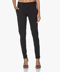 Woman By Earn Amber Tech Jersey Pants - Black
