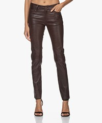 Zadig & Voltaire Phlame Used Leather Pants - Chocolat