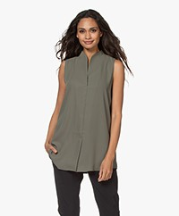 Woman By Earn Lot Sleeveless Blouse - Army