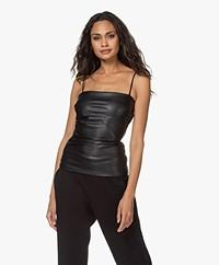 Wolford Edie Vegan Leather Top - Black