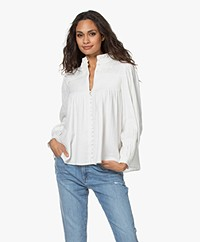 ba&sh Kawai Katoenen Mousseline Blouse - Off-white