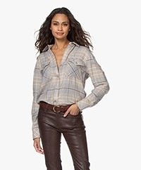 Rag & Bone Cruz Flannel Checkered Shirt - Beige Multi