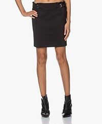Woman by Earn Ike Bonded Tech Jersey Mini Skirt - Black