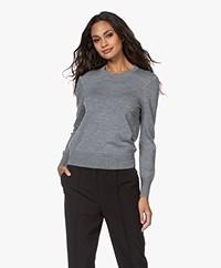 Filippa K  Merino R-neck Sweater - Medium Grey Melange