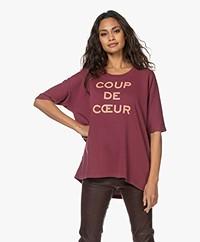 Zadig & Voltaire Portland Coup de Coeur Sweatshirt - Bordeaux