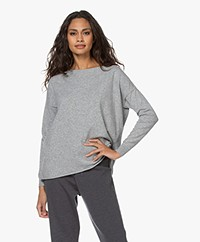 Resort Finest Marina Cashmere Blend Boat Neck Pullover - Grey