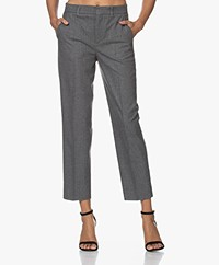 Drykorn Search Herringbone Cropped Pantalon - Rainy Day