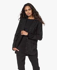 Equipment Hampton Jacquard Blazer with Stars - Black