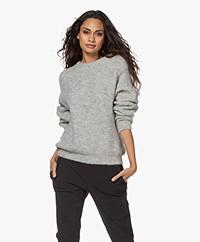 American Vintage East Alpaca Blend Sweater - Grey Melange