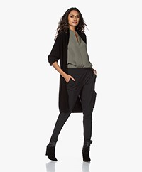 Woman by Earn Jil Cotton Open Cardigan - Black