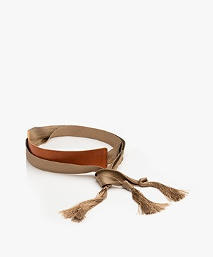 forte_forte Leather Tie Belt - Naturale Miele