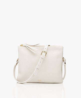 Closed Duo Leren Schoudertas - Off-white