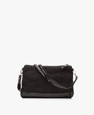 Vanessa Bruno Cabas Linen Schoulder Bag - Black