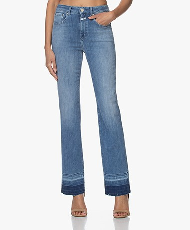 Closed Leaf Flared Stretch Jeans - Medium Blauw