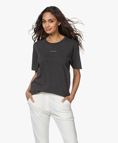 IRO Perry Gewassen Logo T-shirt - Used Black