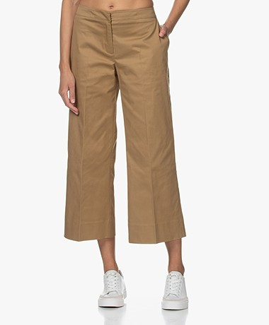 LaSalle Safari Cotton Twill Pants - Camel