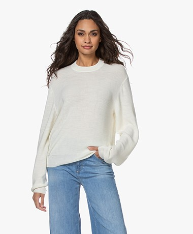 Closed Wool and Viscose Blend Sweater - Ivory