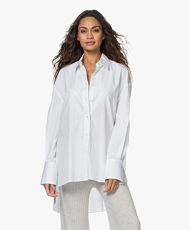 Joseph Baji Poplin Tuniek Overhemd - Optic White