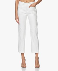 Drykorn Basket Stretchy Katoenmix Pantalon - Off-white