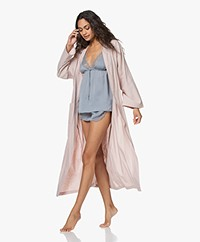 HAMMAM34 The Flower Lange Katoenen Kimono - Dusty Pink