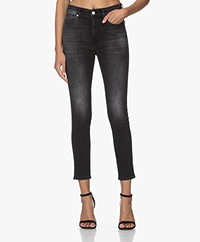 IRO Tracck Cropped Skinny Jeans - Faded Black