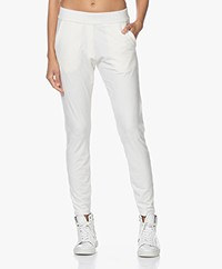 Woman by Earn Bobby Velvet Jersey Sweatpants - Off-white
