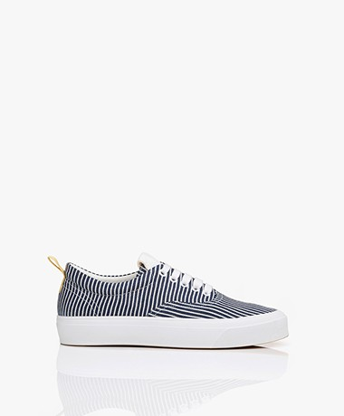 Closed Chilli Striped Low Sneakers - Blue/White