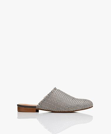 indi & cold Braided Slip-in Mules - Grey