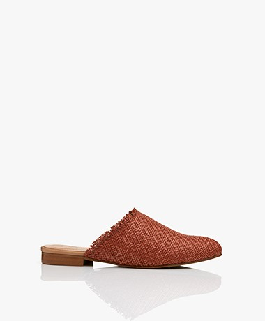 indi & cold Braided Slip-in Mules - Terracotta