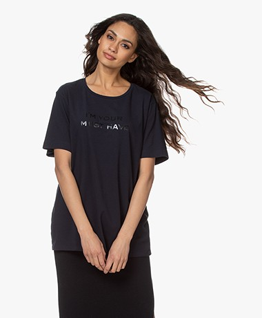 Majestic Filatures Cindy Bruna Musthave T-shirt - Marine