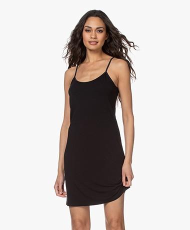 no man's land Viscose Jersey Slip Dress - Black