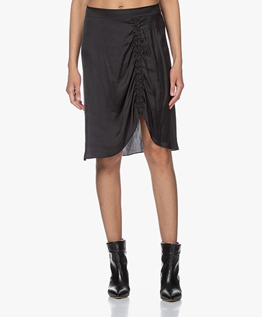 Zadig & Voltaire Jiji Satin Skirt - Black