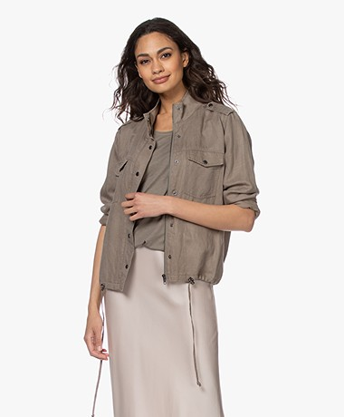 Repeat Linen-lyocell Blend Jacket - Khaki
