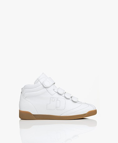 Jerome Dreyfuss Davina Leren High-Top Sneakers - Wit
