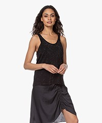 Zadig & Voltaire Lee Strass Knitted Tank Top - Black