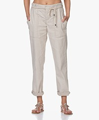 Drykorn Bad Linen Blend Utility Pants - Beige