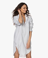 Zadig & Voltaire Resley Striped Oversized Shirt Dress - Ecru