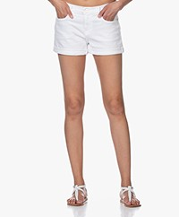 Frame Le Cutoff Cuffed Denim Shorts - White