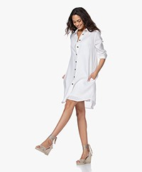 Resort Finest Monica Linen Shirt Dress - White